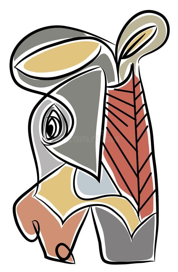 Download Donkey head illustration stock vector. Illustration of amusing - 114106278