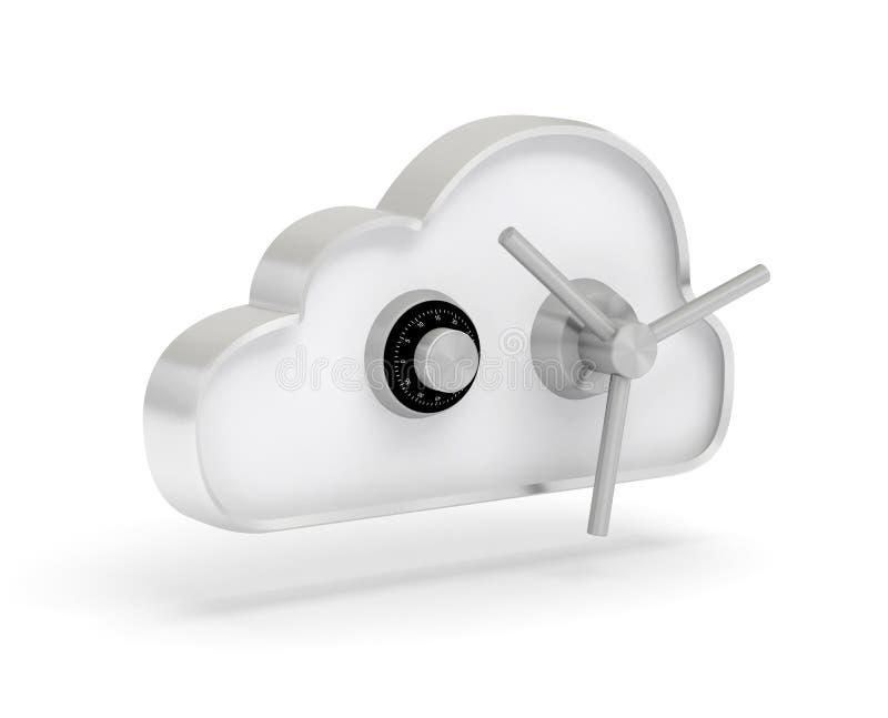 Données 3D sûr de nuage illustration de vecteur