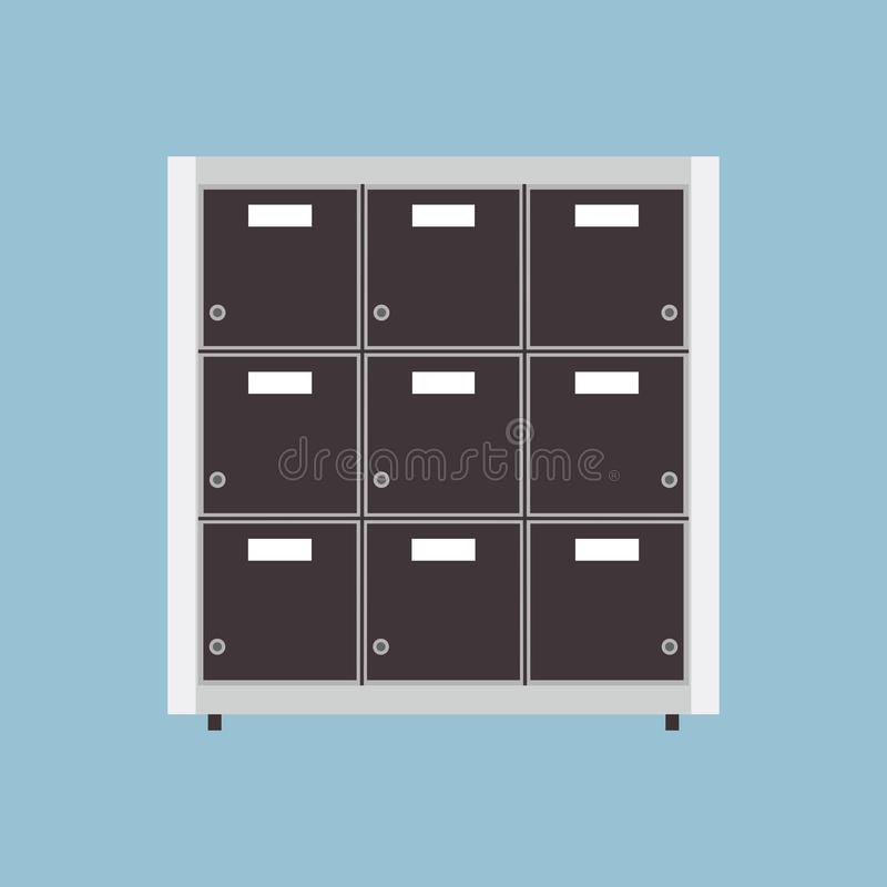 Données de dossier de document d'entreprise d'icône de vecteur d'archives de dossier Bureau d'isolement de stockage Organisez le  illustration de vecteur