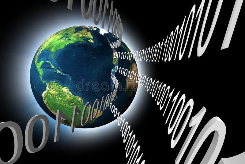 données de la terre 3d illustration libre de droits