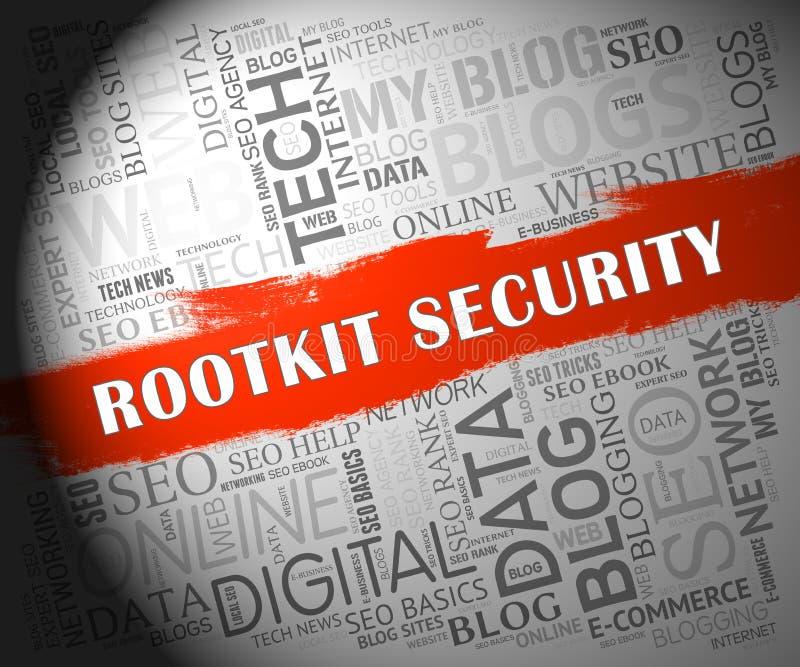 Données de sécurité de Rootkit entaillant illustration de protection la 2d illustration de vecteur