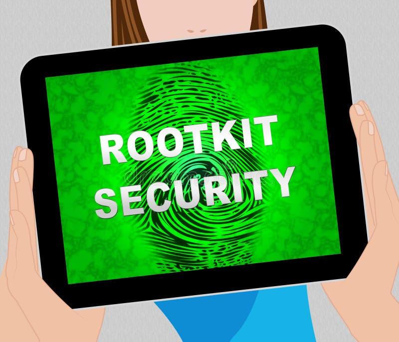 Données de sécurité de Rootkit entaillant illustration de protection la 2d illustration libre de droits