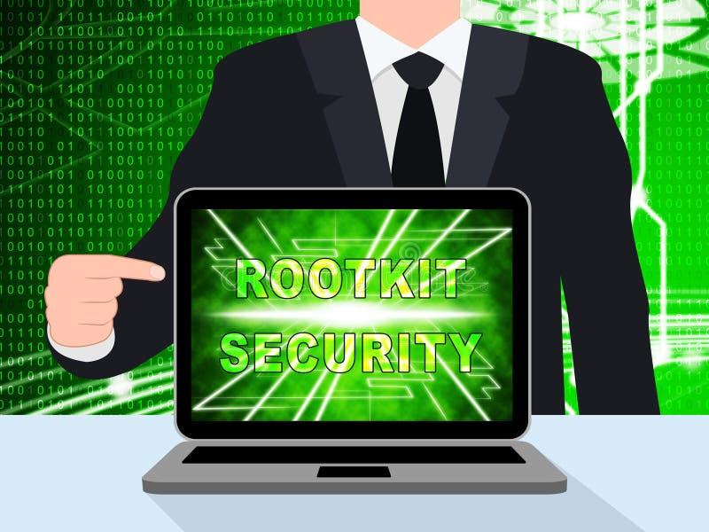 Données de sécurité de Rootkit entaillant l'illustration de la protection 3d illustration de vecteur