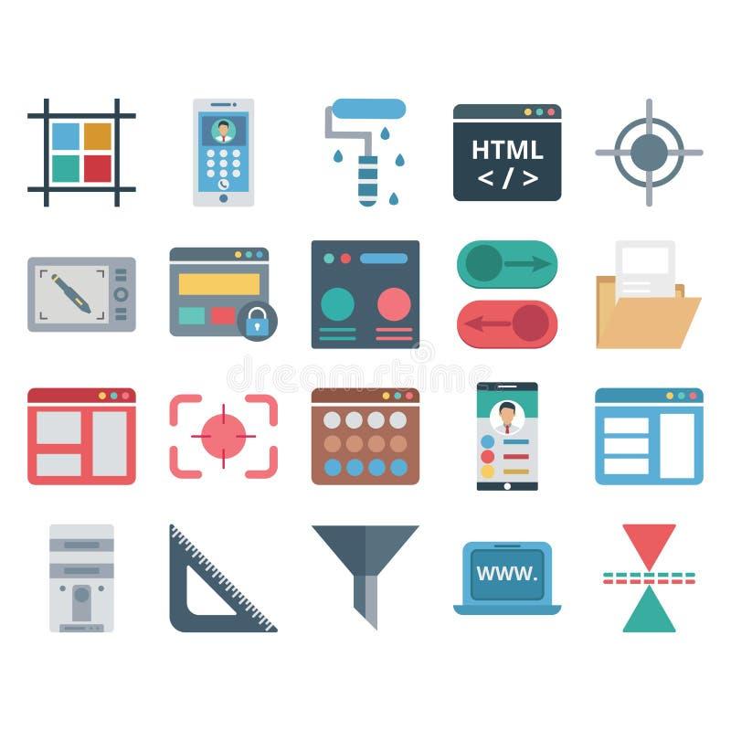 Données de Web, conception et icônes d'isolement par vecteur de développement illustration libre de droits