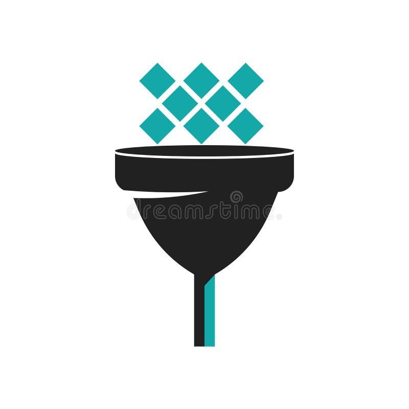 Données dirigeant le signe de vecteur d'icône et symbole d'isolement sur le fond blanc, données dirigeant le concept de logo illustration stock