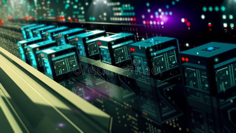 Données du trafic de cyberespace de Digital avec le code binaire photo libre de droits