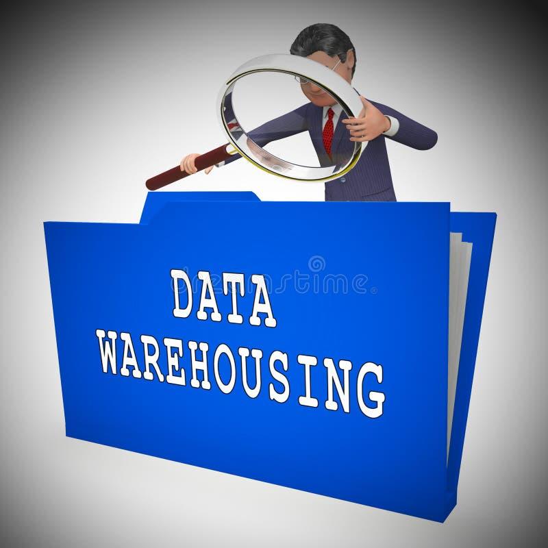 Données entreposant le rendu du stockage 3d de ressources de Datacenter illustration libre de droits