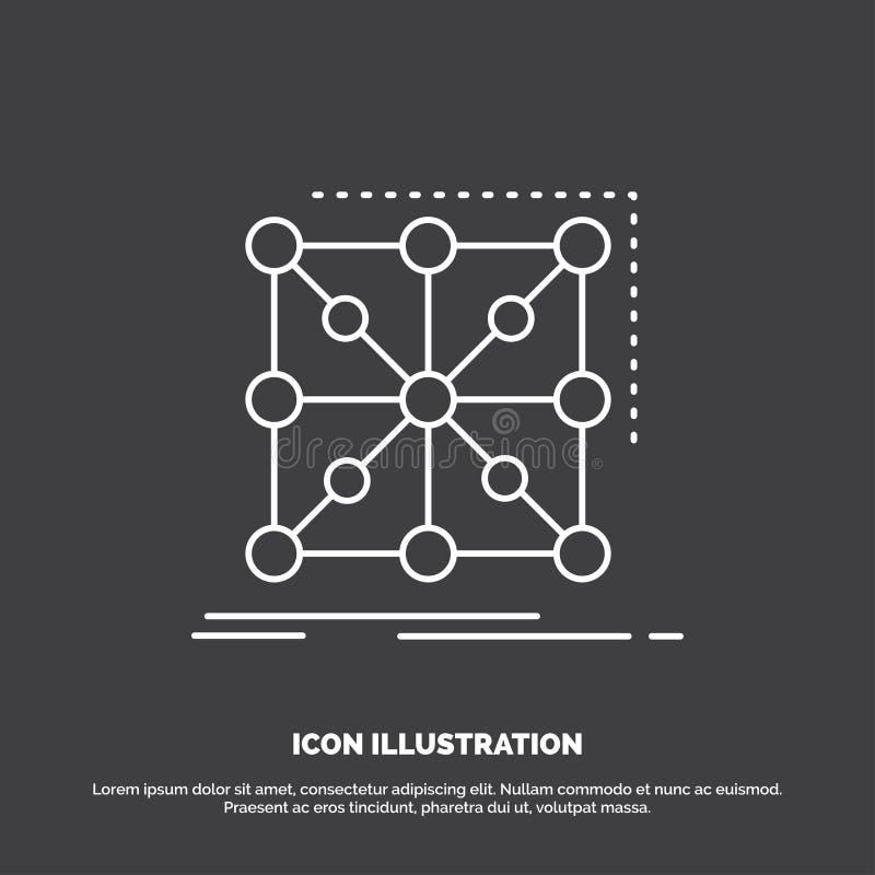 Donn?es, cadre, appli, groupe, ic?ne complexe Ligne symbole de vecteur pour UI et UX, site Web ou application mobile illustration stock