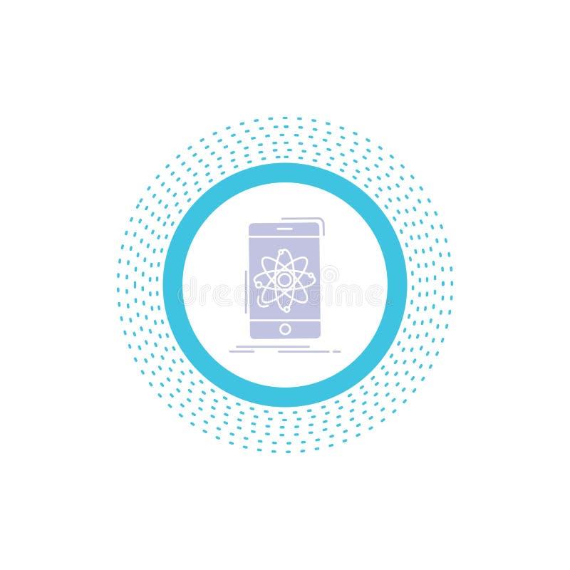 donn?es, l'information, mobile, recherche, ic?ne de Glyph de la science Illustration d'isolement par vecteur illustration stock