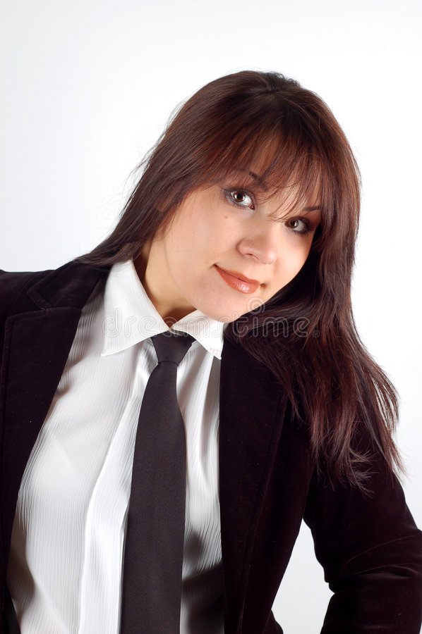 Donna #4 di affari immagini stock