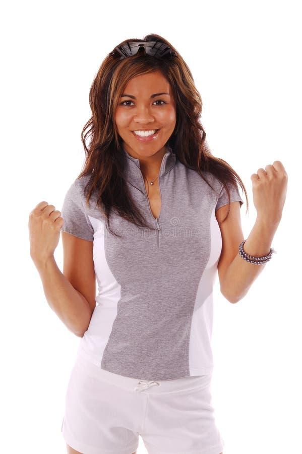 Download Donna 5 di allenamento fotografia stock. Immagine di forte - 205868