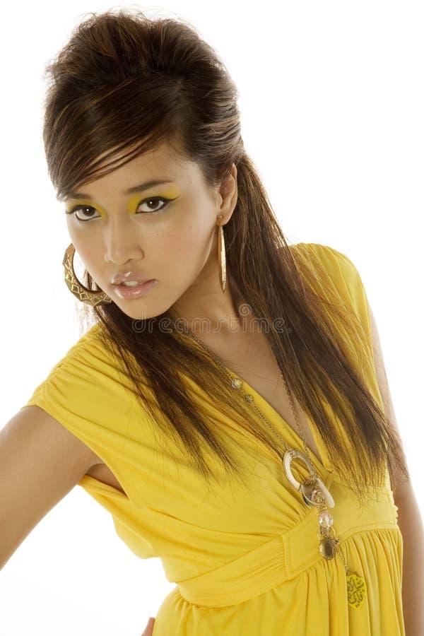 Donna abbastanza asiatica immagini stock