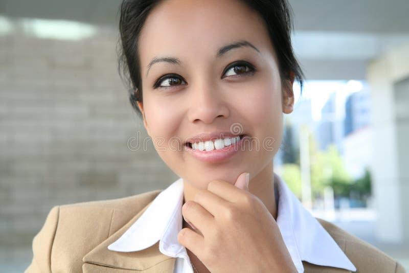 Donna abbastanza asiatica di affari immagini stock libere da diritti