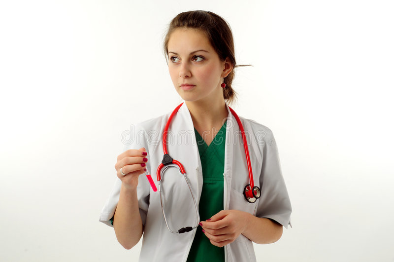 Download Donna abbastanza medica immagine stock. Immagine di internisti - 7307275