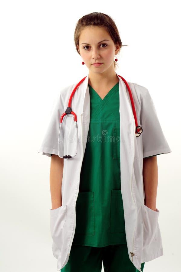 Download Donna abbastanza medica immagine stock. Immagine di professionista - 7307289
