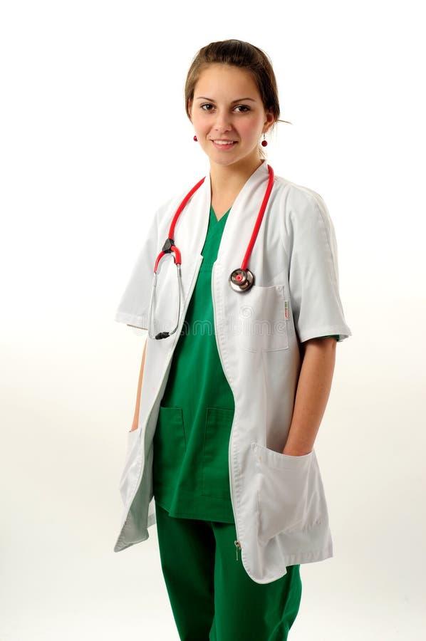 Download Donna abbastanza medica fotografia stock. Immagine di infermiera - 7307314