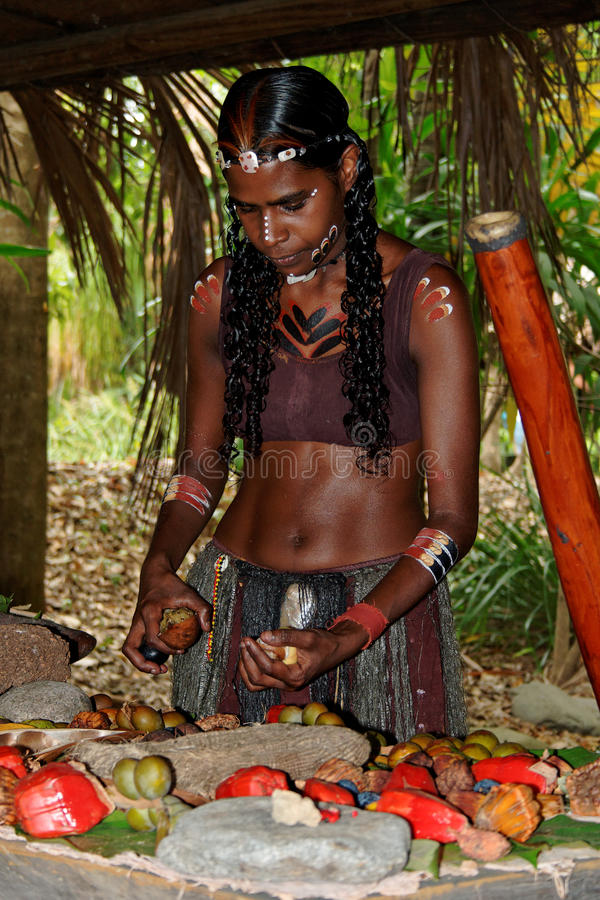 Donna aborigena immagine stock