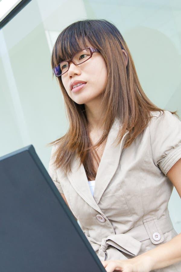 Donna affari/di formazione immagini stock libere da diritti