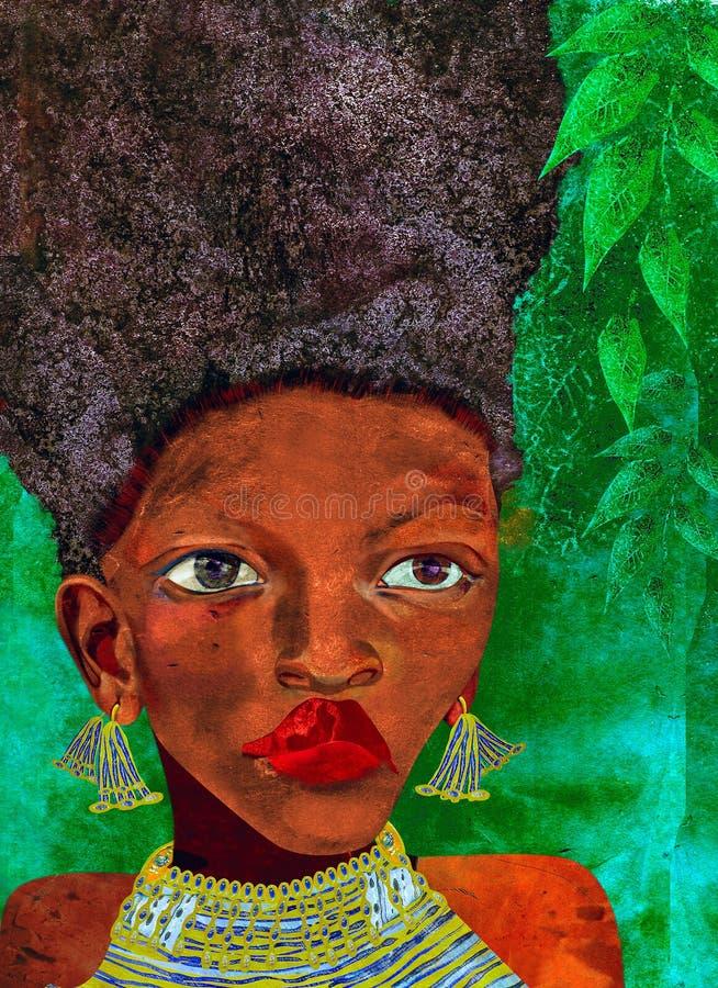 Donna africana royalty illustrazione gratis