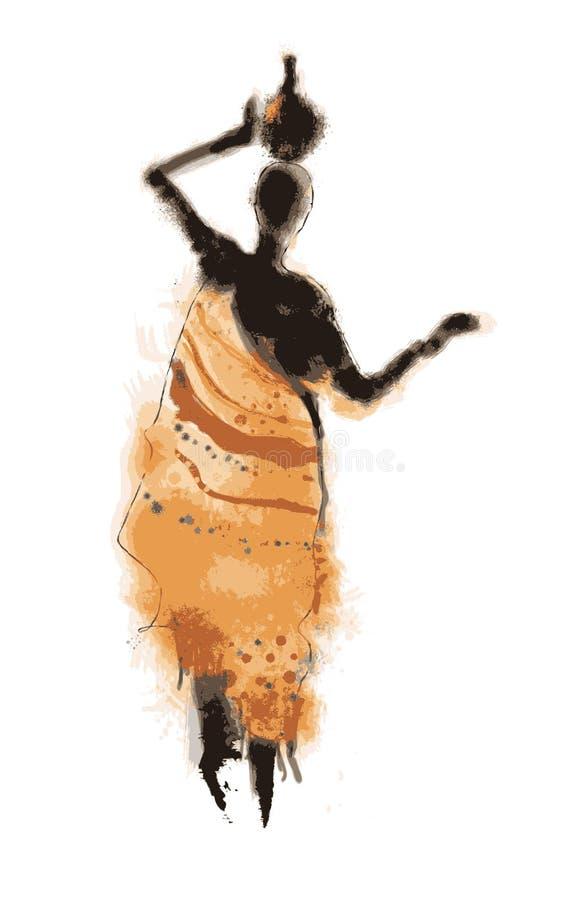 Donna africana astratta illustrazione di stock