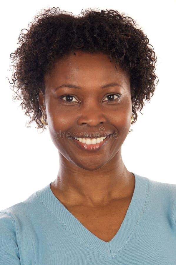 Donna africana attraente immagine stock