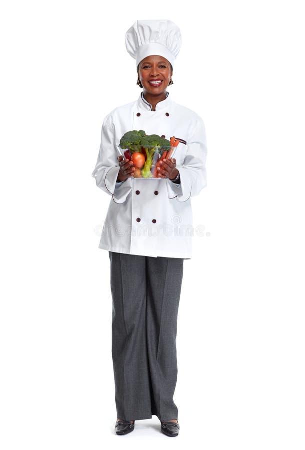 Donna africana del cuoco unico fotografia stock
