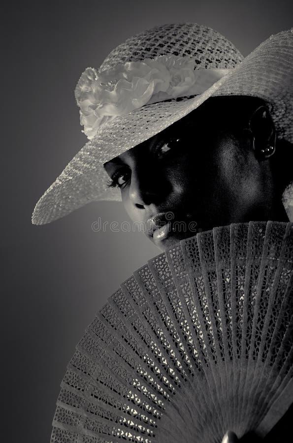 Donna africana di modo fotografia stock