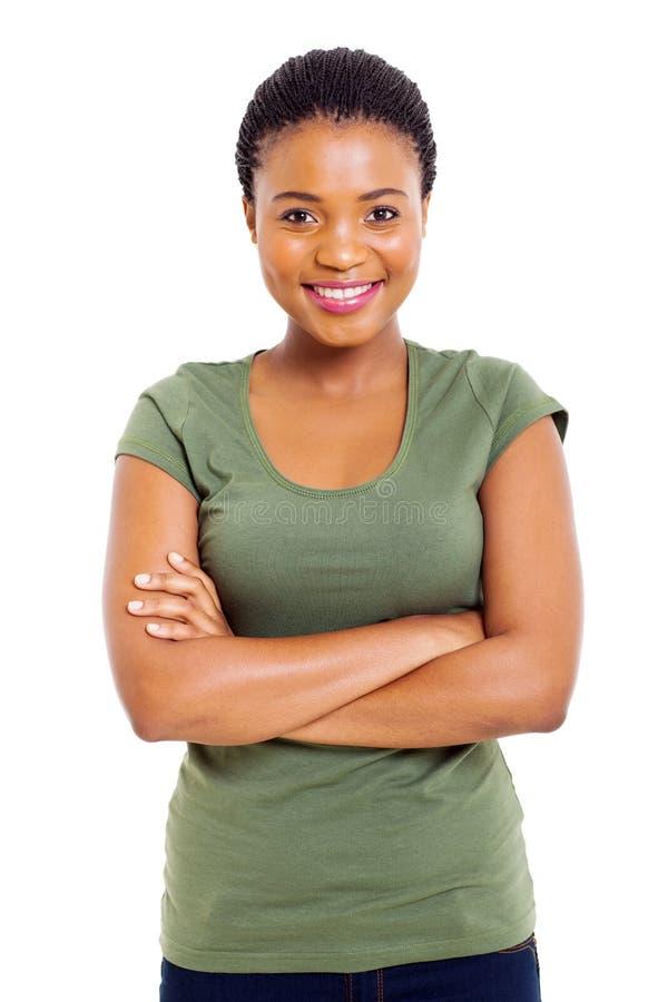 Donna africana sveglia fotografia stock