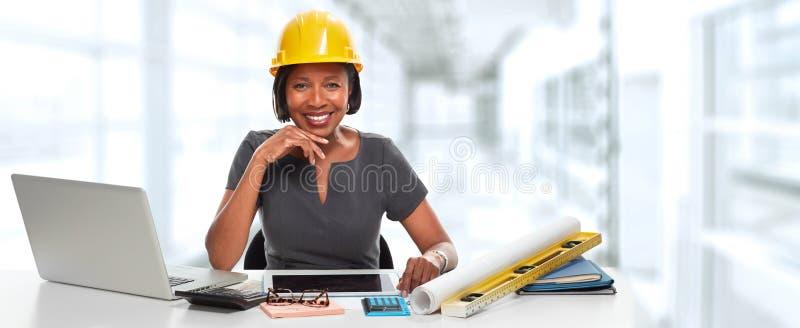 Donna afroamericana dell'architetto immagini stock