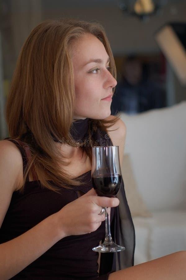 donna al partito immagini stock