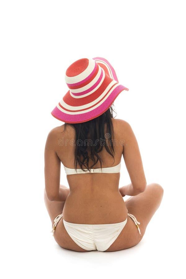 Donna alla spiaggia immagine stock libera da diritti