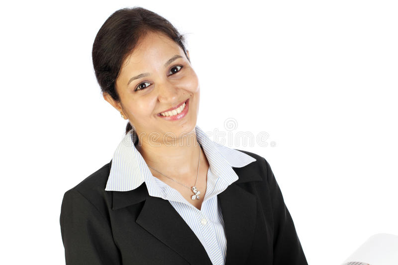 Donna allegra di affari immagini stock