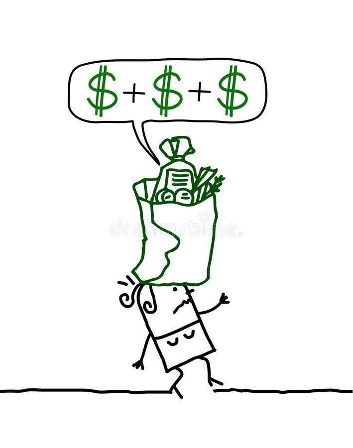 Donna & finanze illustrazione di stock