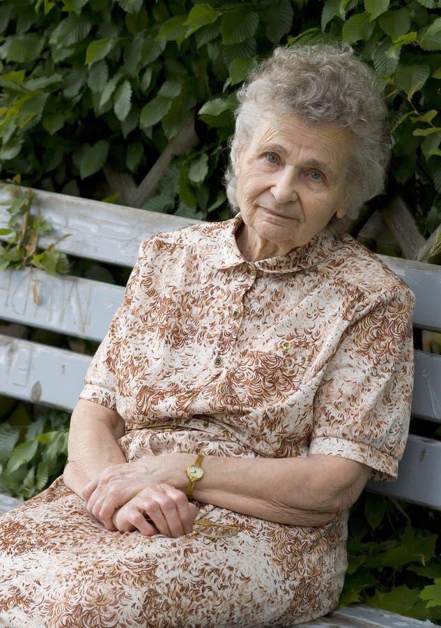 Donna anziana immagine stock libera da diritti