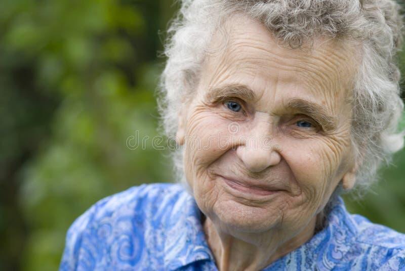 Donna anziana fotografie stock