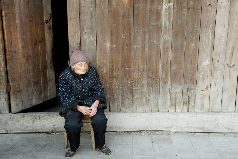 Donna anziana immagine stock