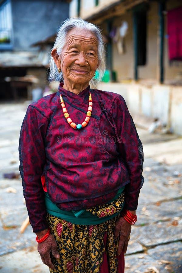 Donna anziana del ritratto fotografie stock libere da diritti