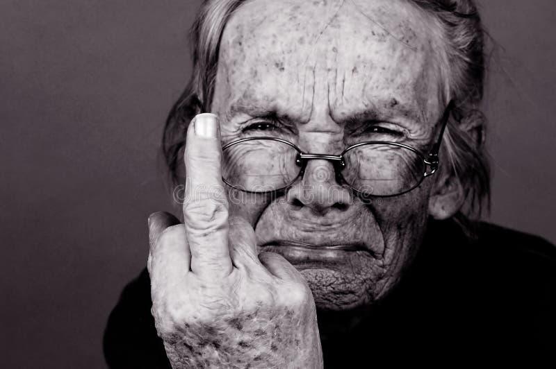 Donna anziana Upset immagini stock libere da diritti