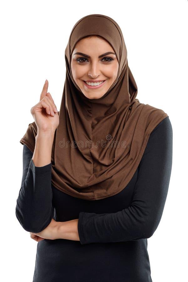 Donna araba di affari fotografia stock