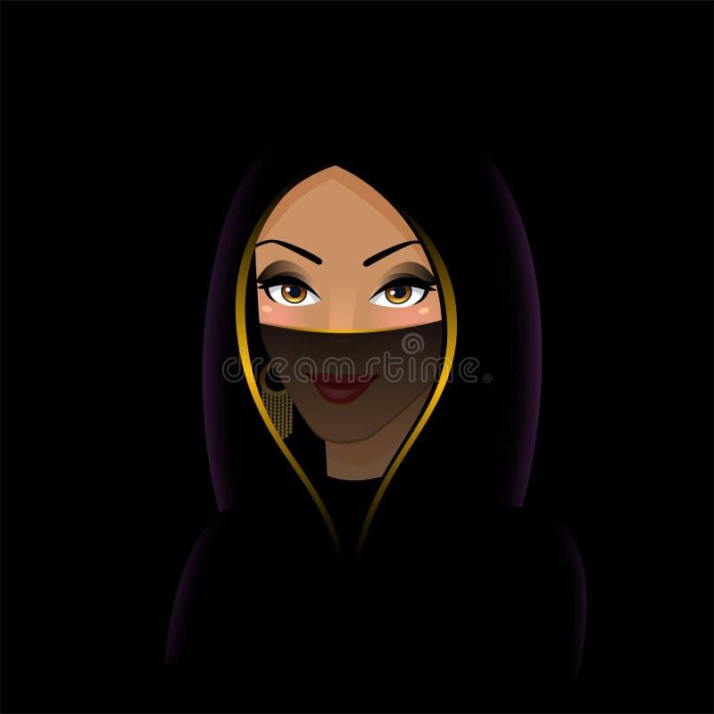 Donna araba in un paranja illustrazione vettoriale