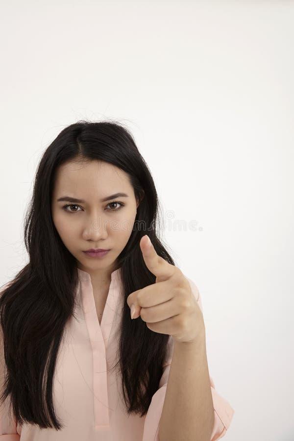 Donna arrabbiata fotografie stock