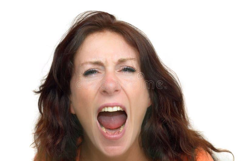Donna arrabbiata fotografia stock
