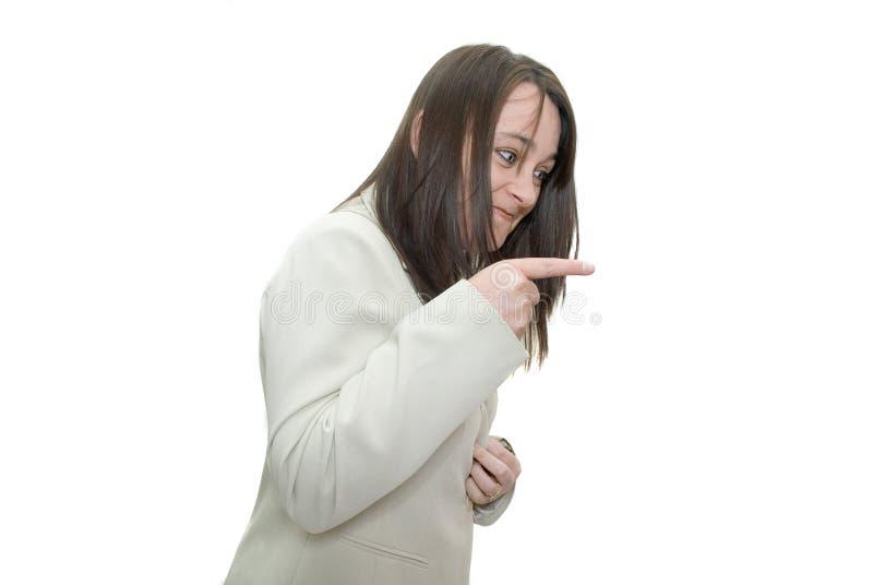 Donna arrabbiata immagini stock