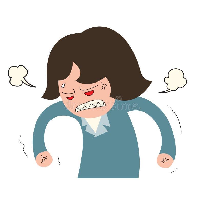 Donna arrabbiata di affari illustrazione vettoriale