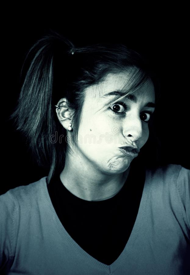Donna arrabbiata e triste immagine stock libera da diritti