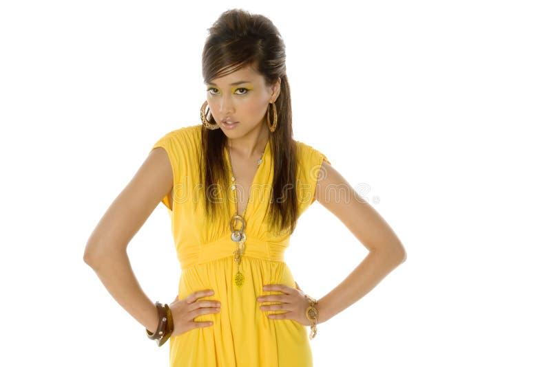 Donna asiatica abbastanza sexy immagini stock