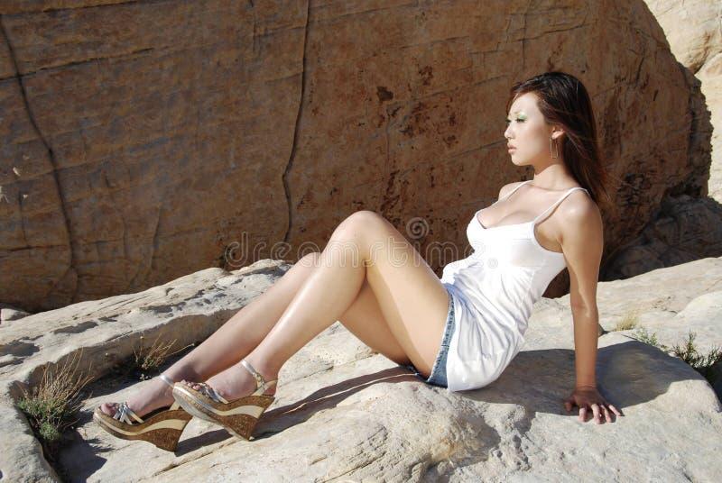 Donna asiatica Stunning fotografia stock libera da diritti