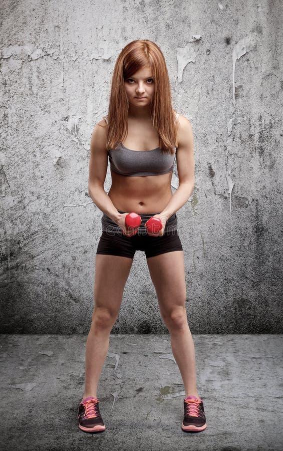 Donna atletica fotografie stock