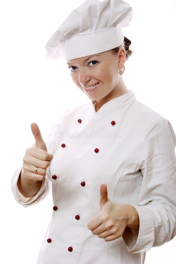 Donna attraente del cuoco immagine stock