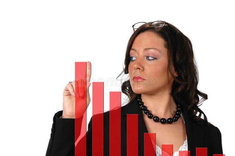 Donna attraente di affari con fotografie stock libere da diritti